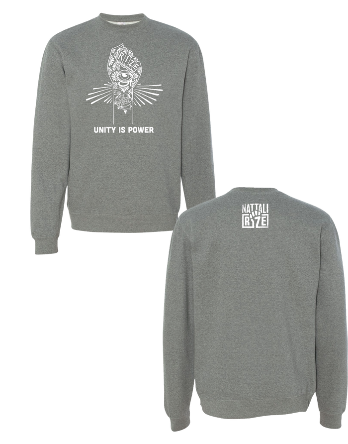 Unity is Power Grey Crewneck