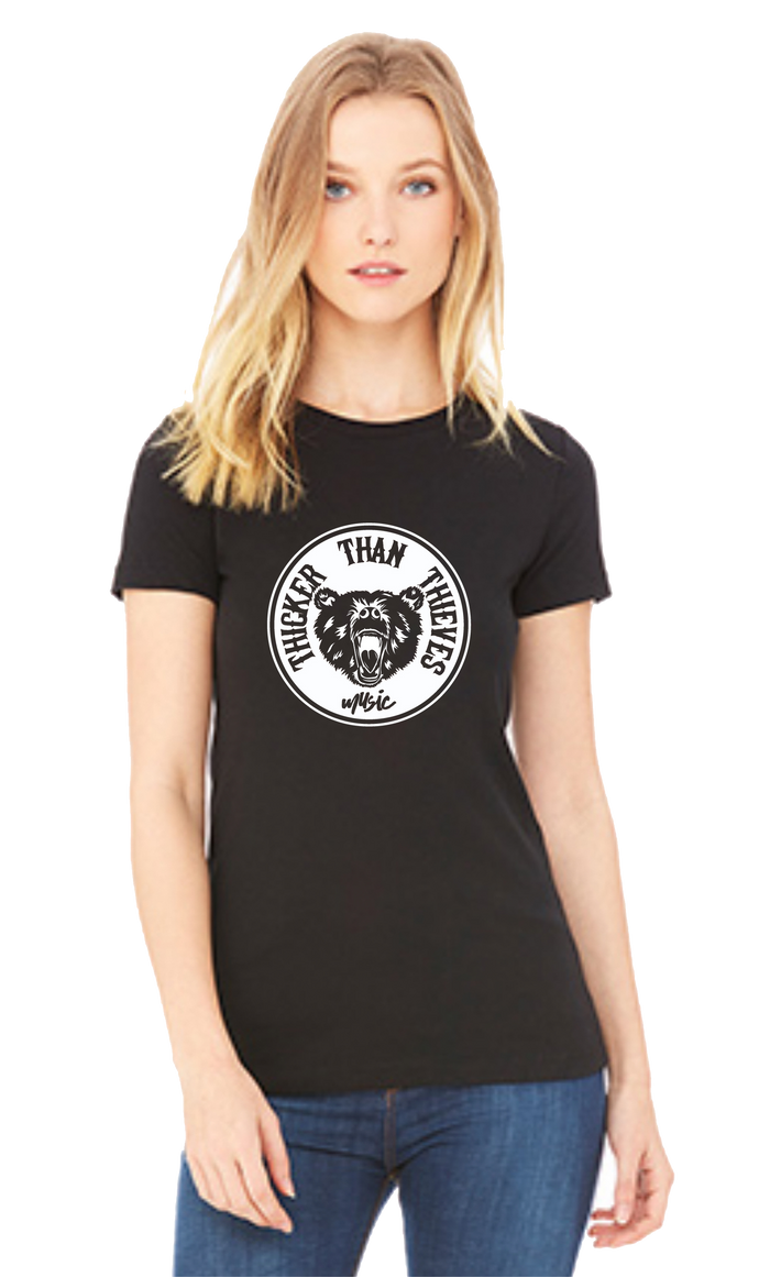 Thicker Than Thieves - Women's Circle Tee (Black)