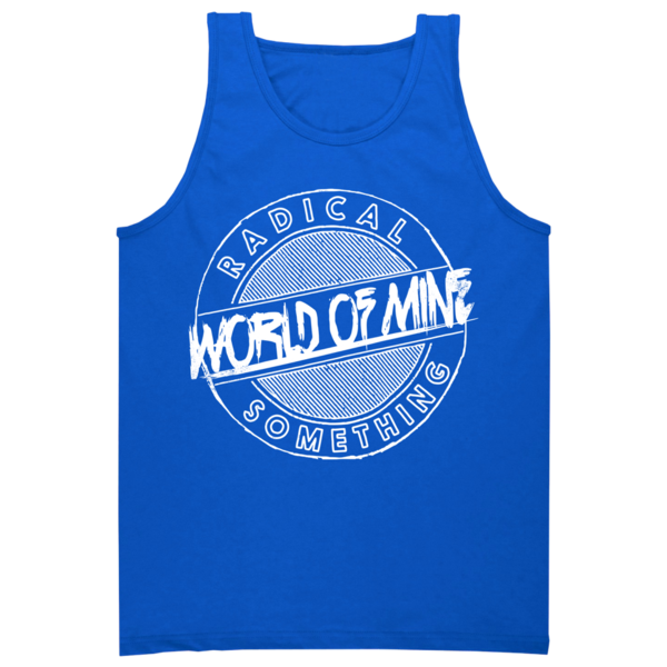 "Radical Something ""World Of Mine"" Blue Tank"