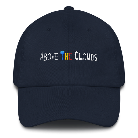 Above The Clouds Dad hat - Navy Blue