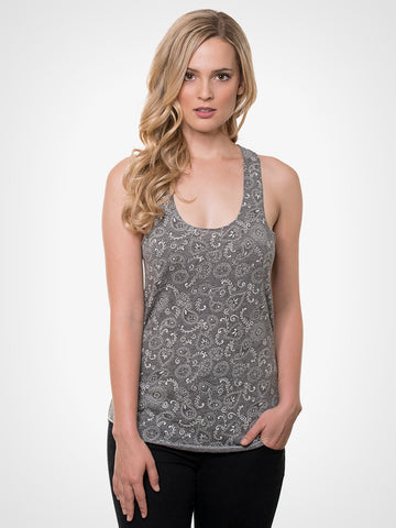 Meegs Grey Bandana Tank