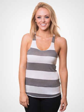 Meegs Striped Heather Tank