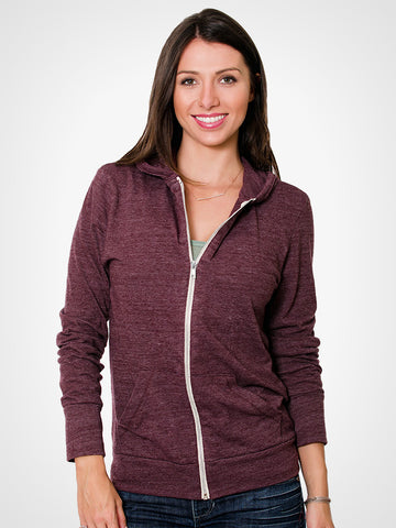Eco-Heather Zip Hoodie