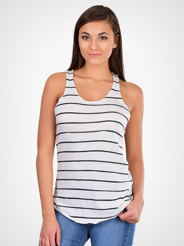 Ink Stripe Racer Tank