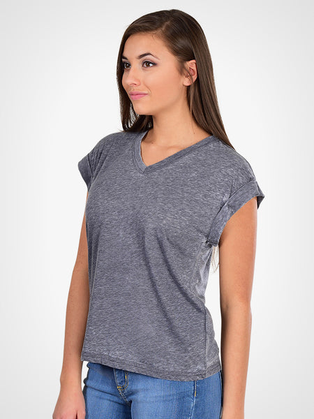 Burnout Rolled Sleeve Tee