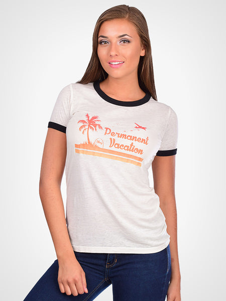 Permanent Vacation Ringer Tee