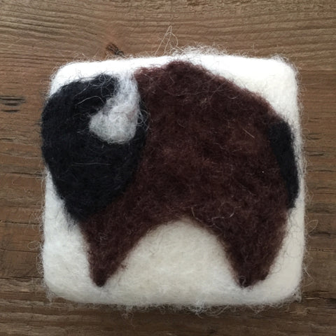 Heritage Soap Wool Felted Bison