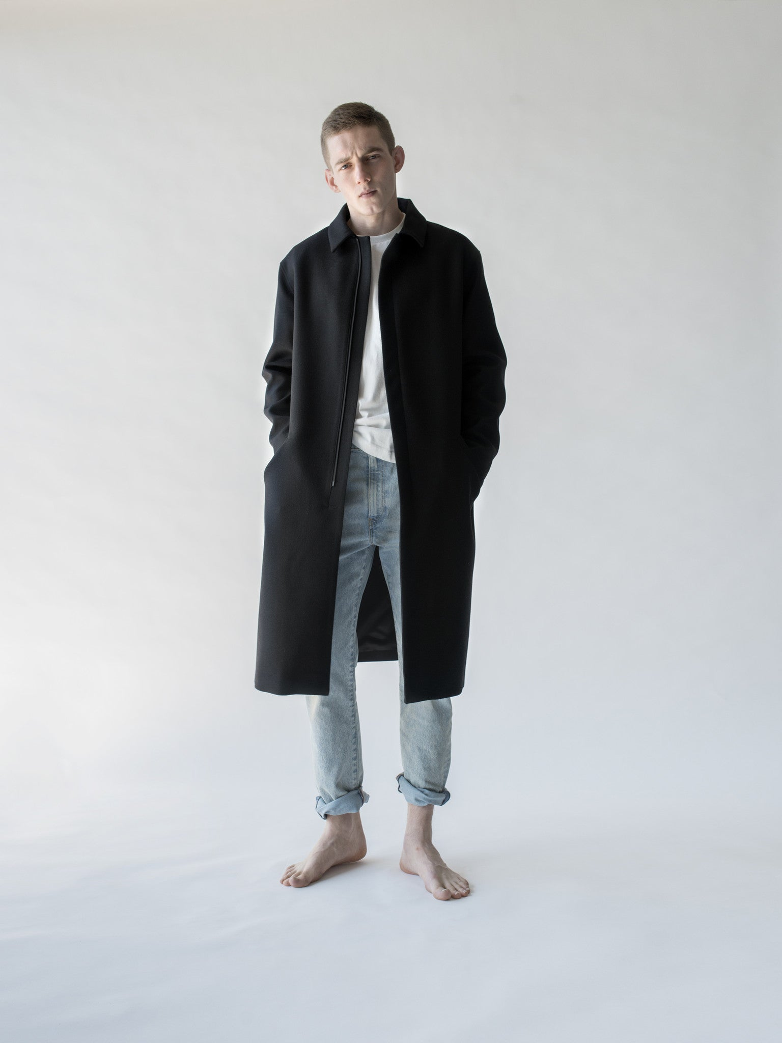 Thisisnon: Men's merino coat - Hiphunters Shop