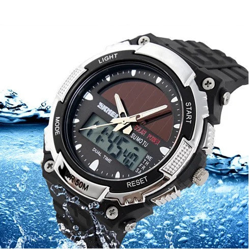 shopify-Sundial Solar Powered Sports Wrist Watch-1