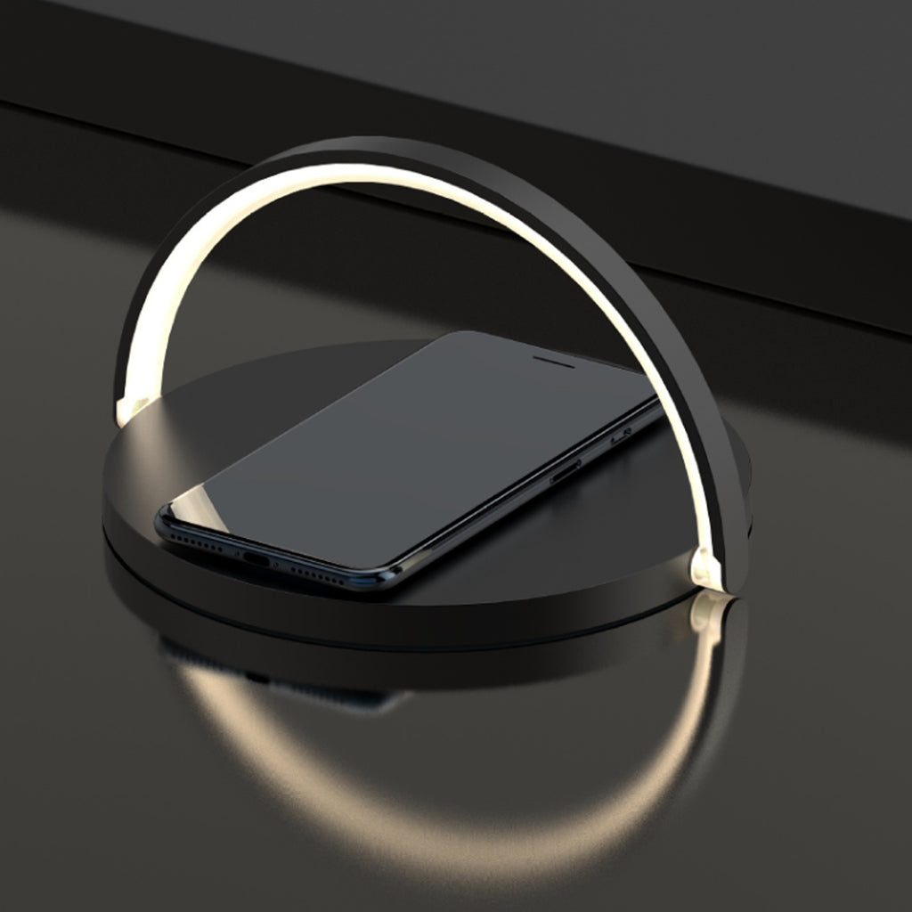 Moonlit Soft Glow LED Light, Wireless Phone Charger And Stand