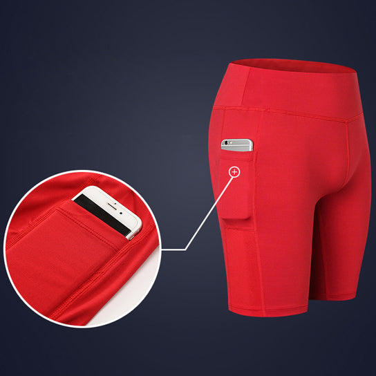 shopify-All Seasons Yoga Shorts Stretchable With Phone Pocket-8
