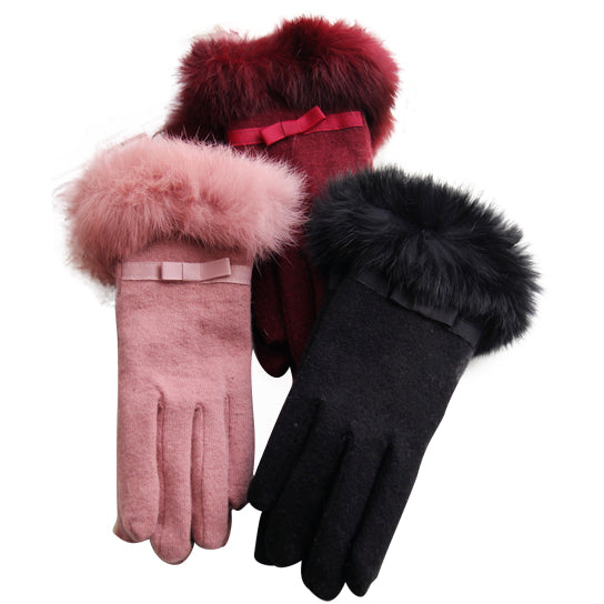 shopify-Kitten Mittens Faux Fur Lining Touch Smart Gloves-8