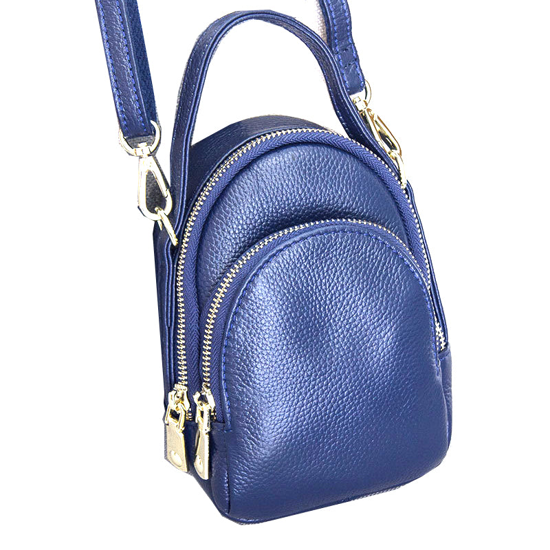 Double Duty Genuine Leather CrossBody Bag