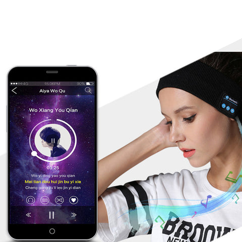 Cozy Companion Jogger's Headband With Bluetooth Speakers
