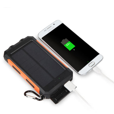 Jumbo Capacity 20,000 mAh Waterproof Solar Power Bank
