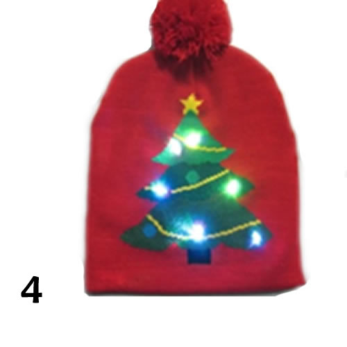 62dc4e324 Pom Pom Party Holiday Hats With LED Lights