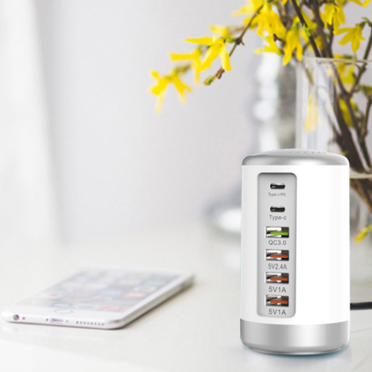 shopify-Tower USB With 6 High Speed Charging Ports-4