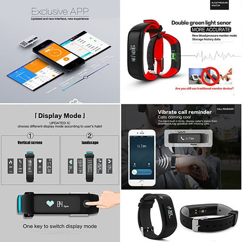 HealthSmart Fitness Band - Measure Heart Rate, Blood Pressure, Activity and More