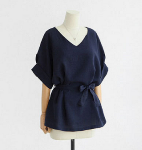 LINEN SEASON Belted Tunic - VistaShops - 2