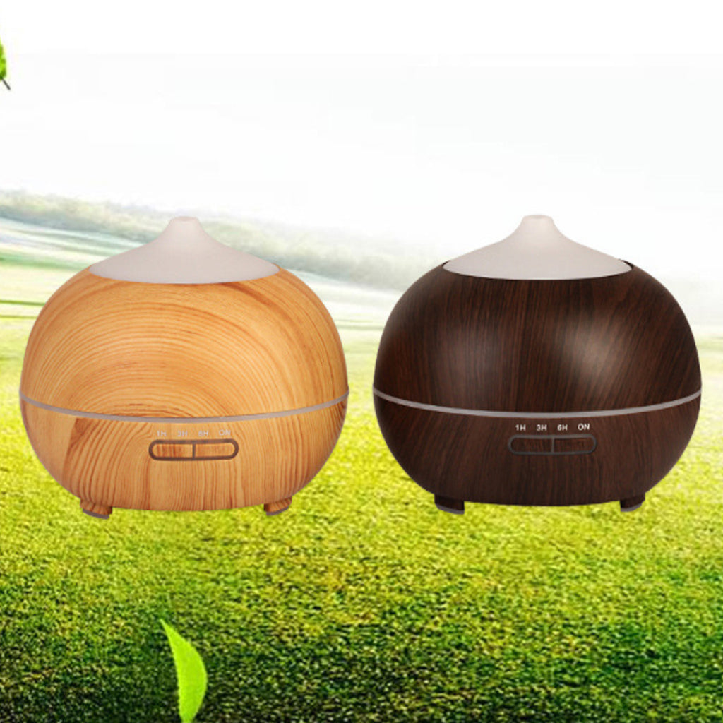 Mistyrious Essential Oil Humidifier Natural Oak Design With Easy Remote