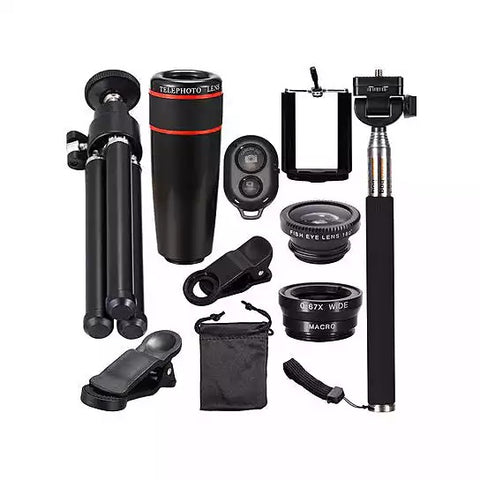 10 in 1 Smart Phone Lens And Selfie bundle