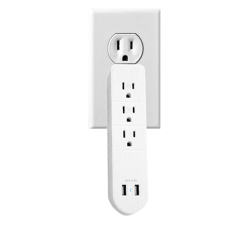 Versatile Multi Outlet AC Plus Fast USB Charger With Surge Protection