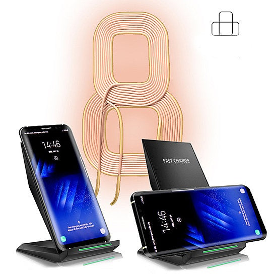 High Speed iPhone 8 Qi Wireless Charger Dual Charging Coils.