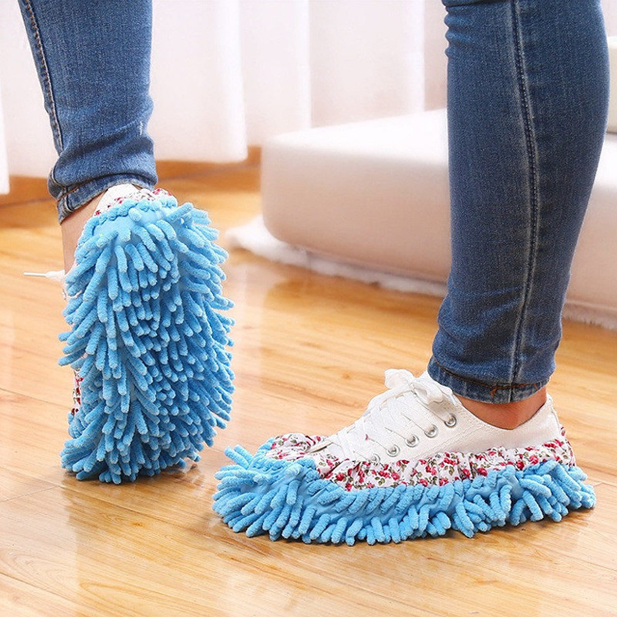 shopify-Lazy Maid Quick Mop Slip-On Slippers 3 prs / 6 pcs-3