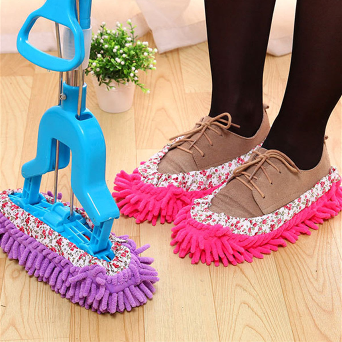 shopify-Lazy Maid Quick Mop Slip-On Slippers 3 prs / 6 pcs-5