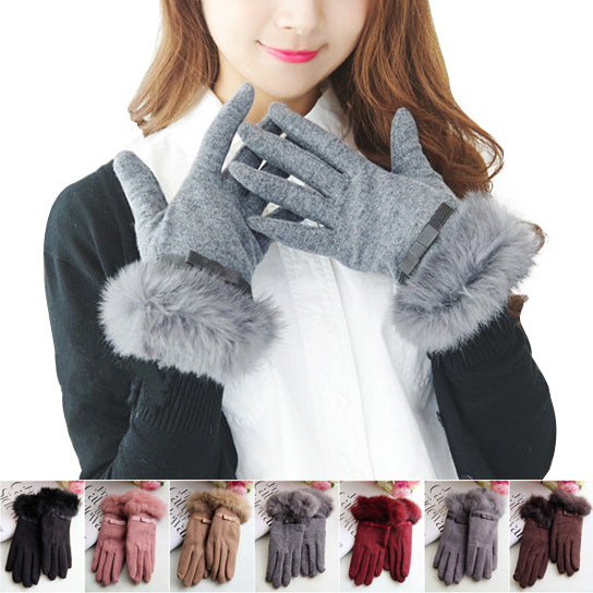 shopify-Kitten Mittens Faux Fur Lining Touch Smart Gloves-3