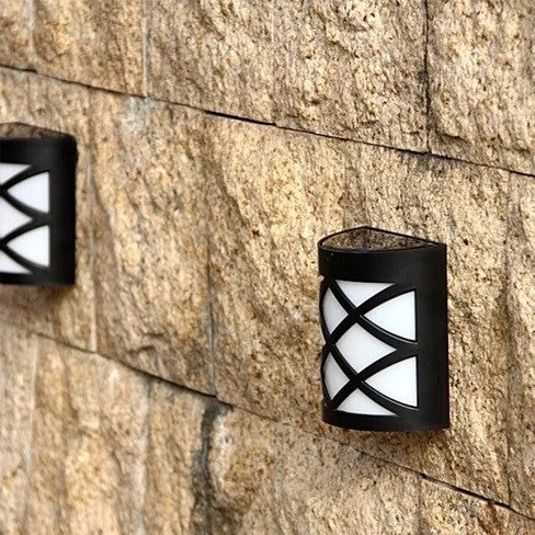 Spotlight Solar Wall Light In Lattice Design