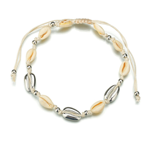 Ocean And Earth Cowrie Shell Statement Necklace