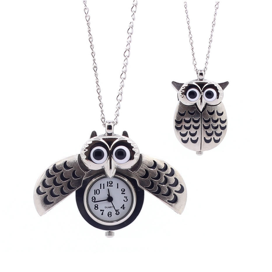 shopify-O My Owl Pendant Watch In Antique Gold-1