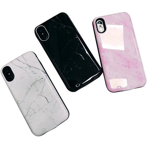 Marbelous iPhone Case Charger W/ Power Bank In 3 Shades