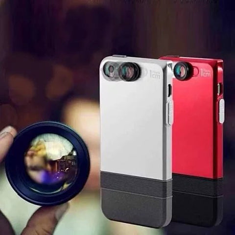 2 in 1 Lens and iPhone 6 or 6 Plus case with 360 protection. - VistaShops - 1