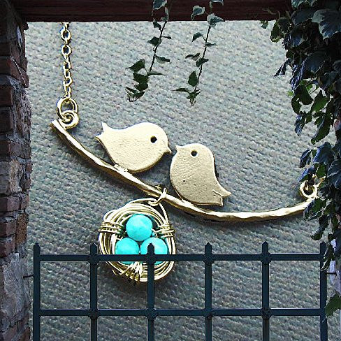 Love Birds Necklace - VistaShops - 3