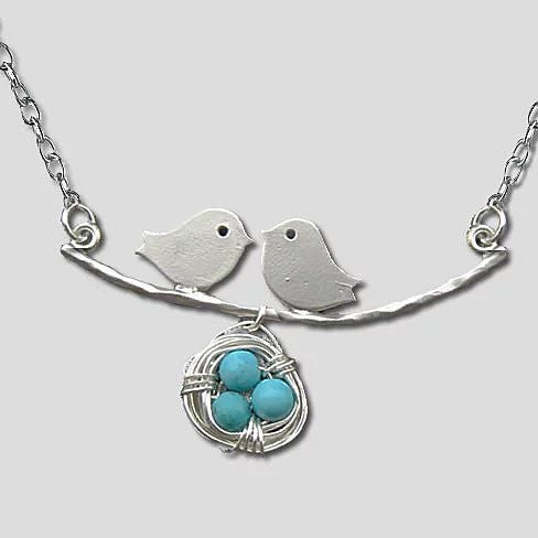 Love Birds Necklace - VistaShops - 1