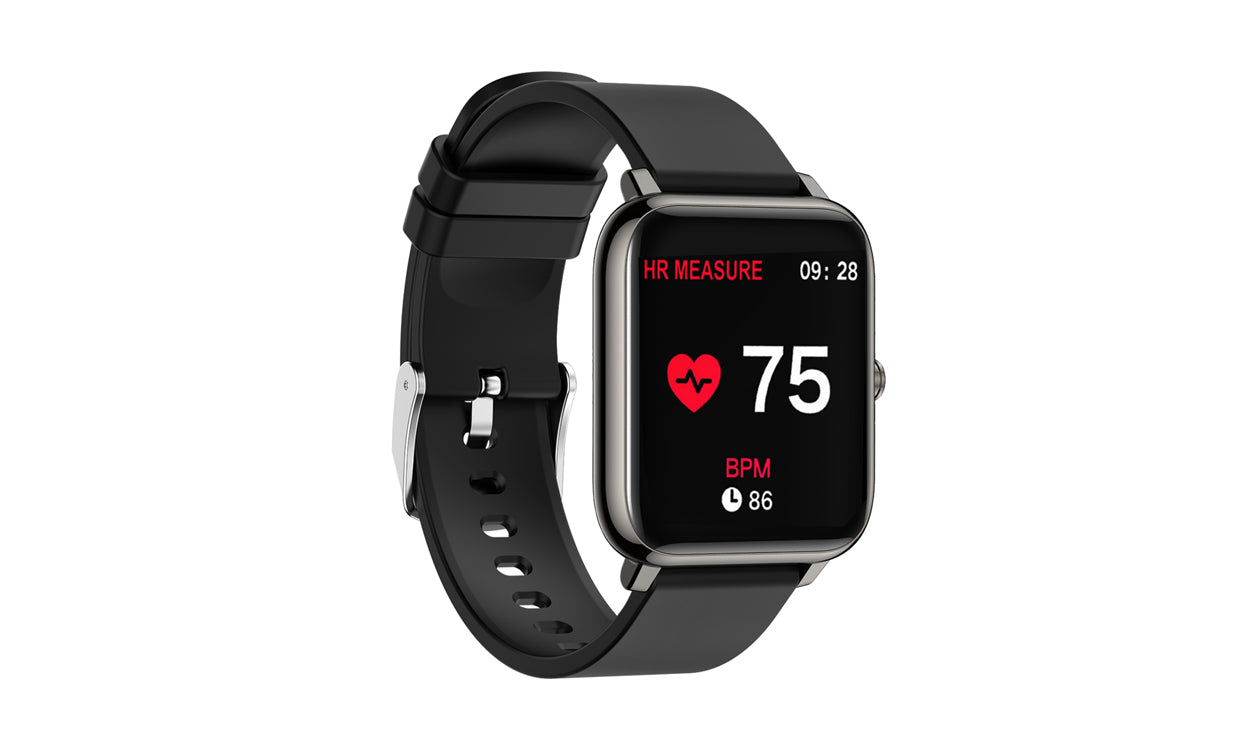 shopify-OXITEMP Smart Watch With Live Oximeter, Thermometer And Pulse Monitor With Activity Tracker-9