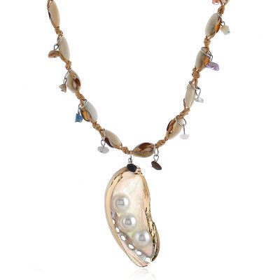 Nature's Delight Pearls In The Seashell Necklace