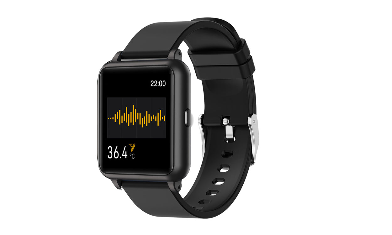 shopify-OXITEMP Smart Watch With Live Oximeter, Thermometer And Pulse Monitor With Activity Tracker-3