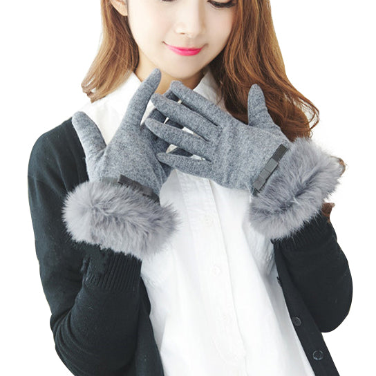 shopify-Kitten Mittens Faux Fur Lining Touch Smart Gloves-2
