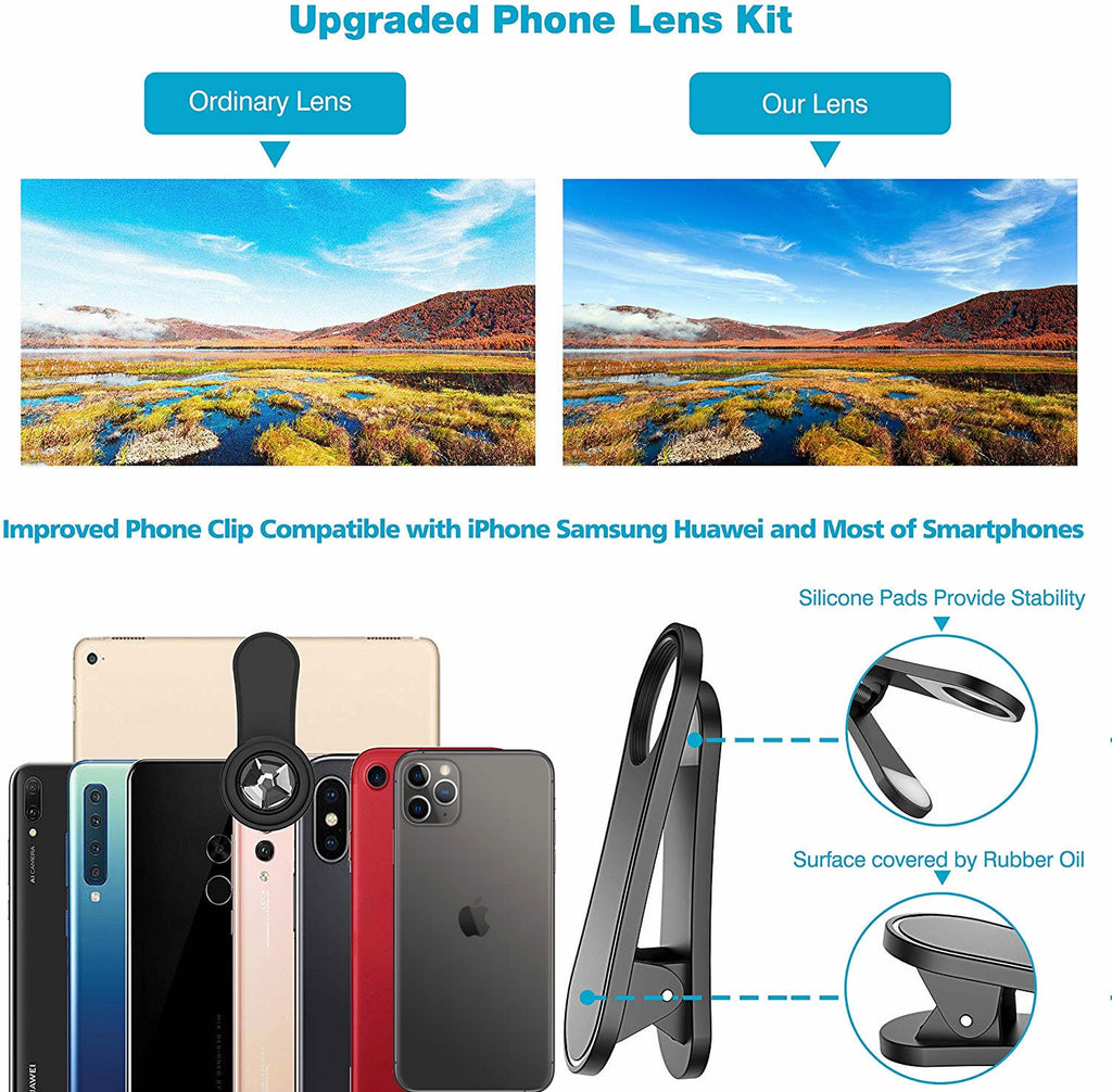 12 in 1 Upgraded Photography Set for iPhone 11 And Any Smartphones