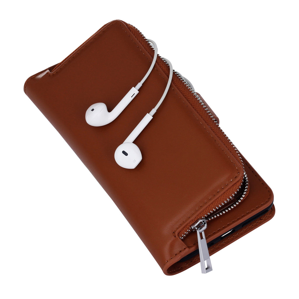 Newest iPhone 8 Case With Zipper Pocket Detachable Case