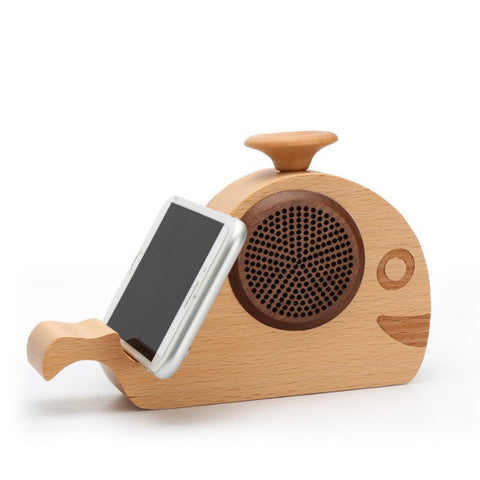 WOODSY GOODSY 2 IN 1 Bluetooth Speaker And Cell Phone Stand