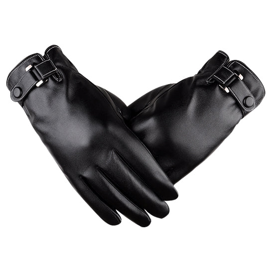 Autumn Warmth Stylish Vegan Leather Touch Smart Gloves