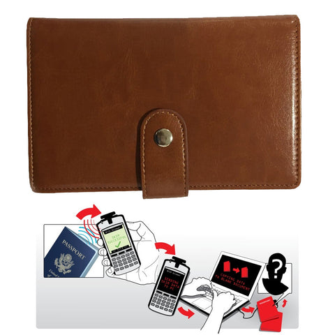 Passport Wallet with RFID Safe Lock