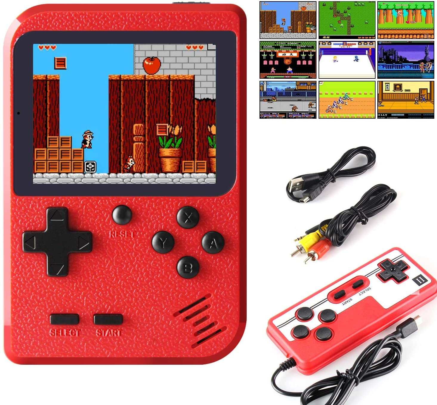 shopify-Portable Game Pad With 400 Games Included + Additional Player Controller-1