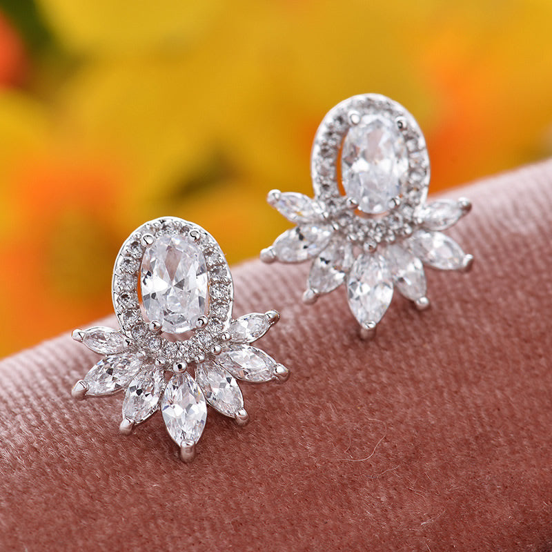 Luster Statement Stud Boutique Earrings