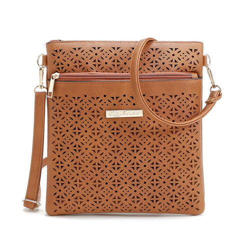 Blossomita Handbag With Cutout Flower Design