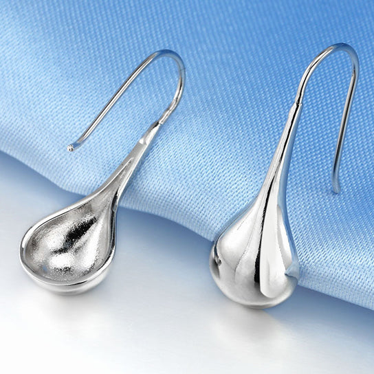 Intensity Tear Drop Hook Earrings Solid 925 Sterling Silver